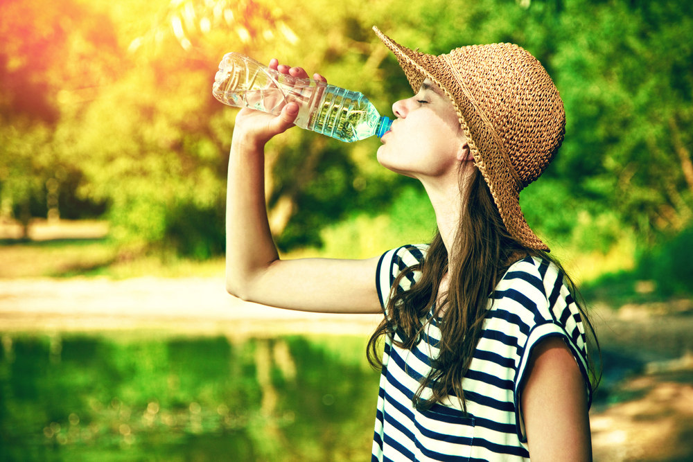 The heat is here. Stay hydrated!